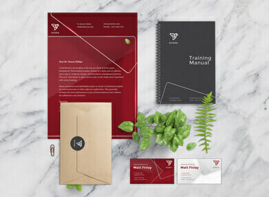 branding and business stationery designed