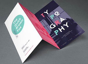 mock up brochure with concertina fold