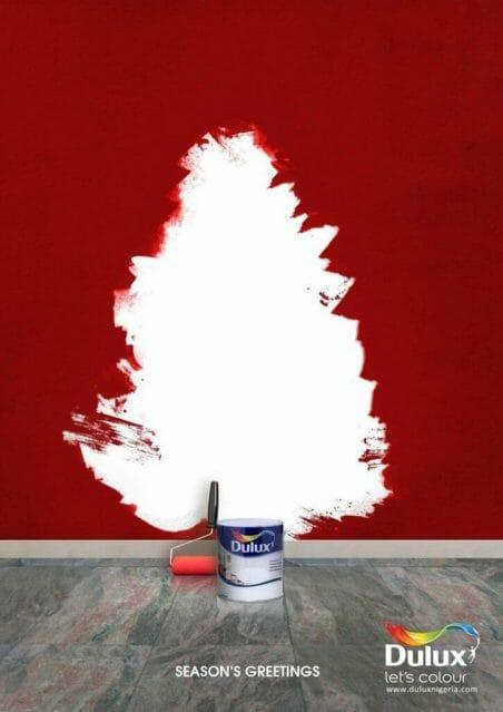 Dulux paint christmas advert