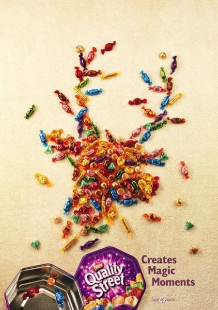 quality streets candy christmas advert