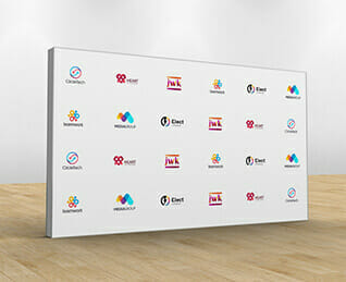 media wall to promote your brand at events
