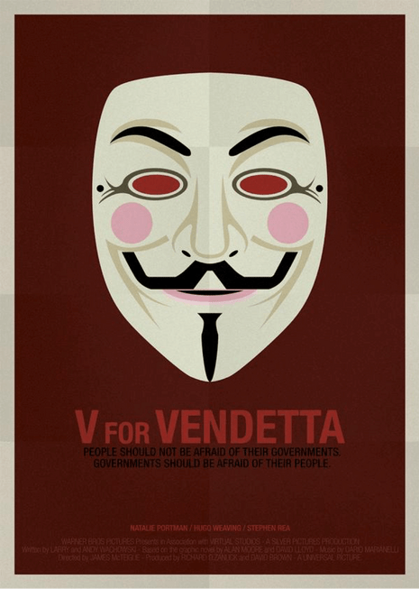 V for Vendetta printed poster tips