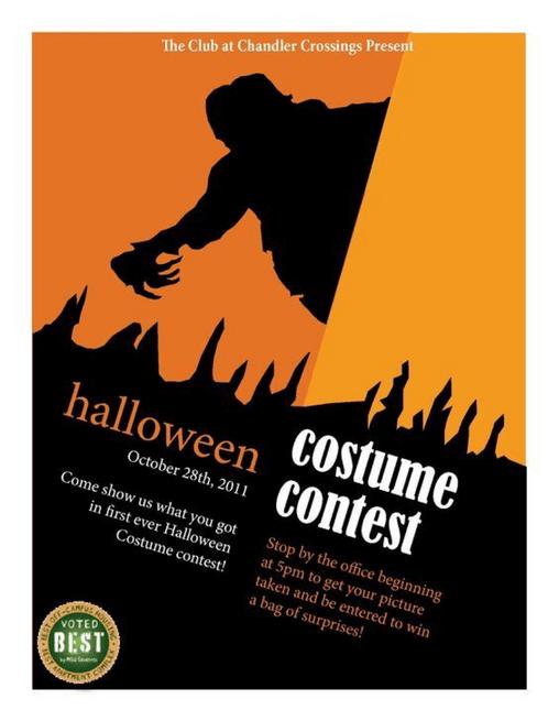 Halloween costume printed poster