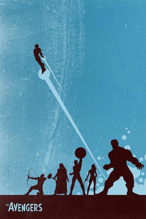 Avengers Modern Poster Design