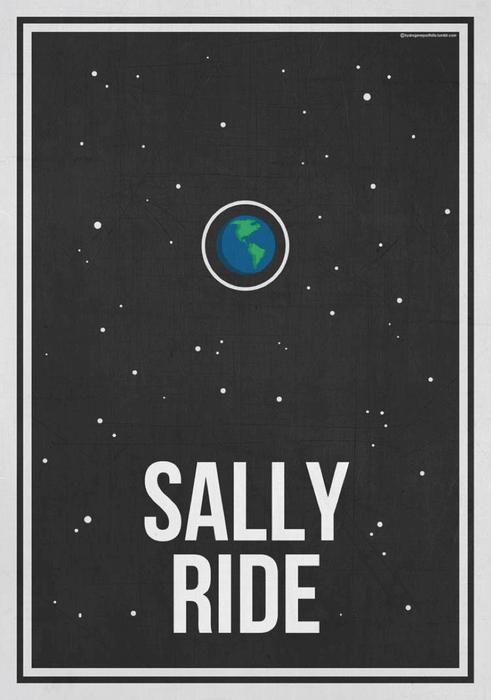 Sally ride poster design