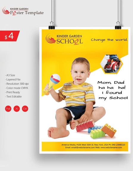 Kinder poster design ideas
