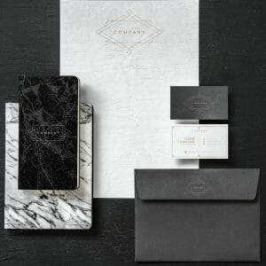 Corporate stationery examples