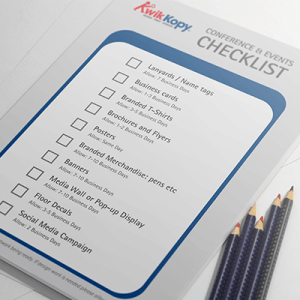 Checklist for planning an event