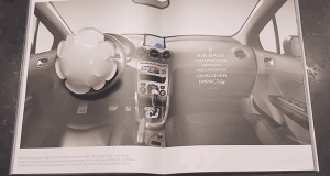 peugeot ad impact triggered airbag