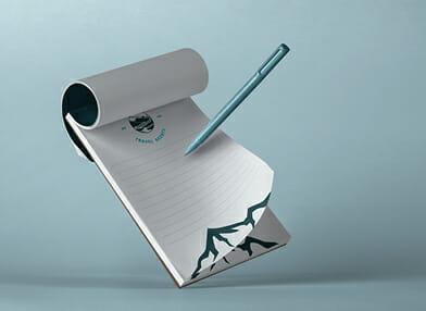 Branded notepad giveaways