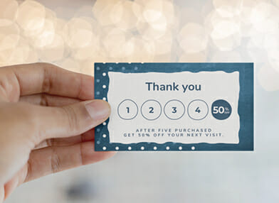 Loyalty Card print and design