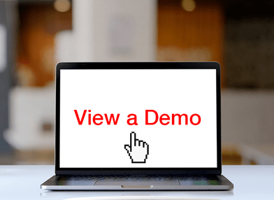 View a demo button for Online print management