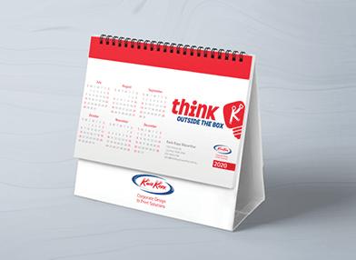 Branded calendar design