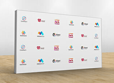 Media wall printing