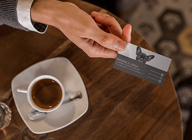 Business card event networking