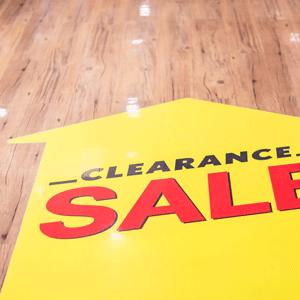 Sale Floor Decals