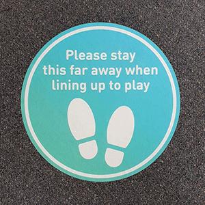 Floor decals for a local golf club printed by Kwik Kopy Seaford
