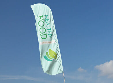 Feather banner printing