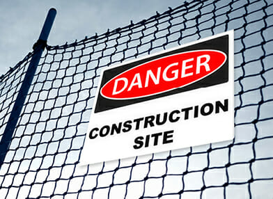Corflute Sign at Construction site