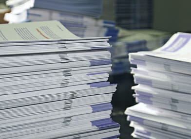 Stack of collated documents