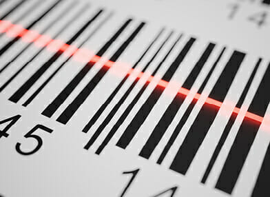Barcode being scanned