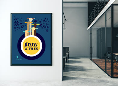 Training poster hanging on the wall