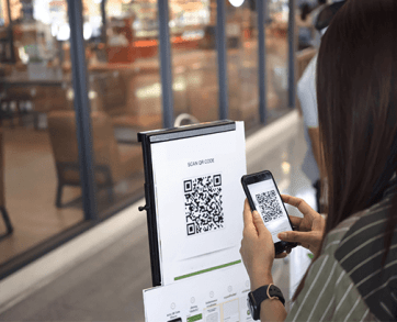 QR code signs posters
