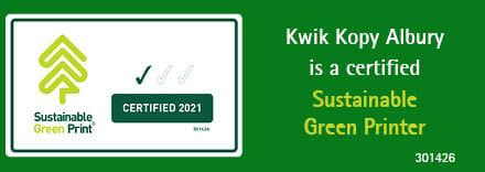 Kwik Kopy Albury Sustainable Green Printer