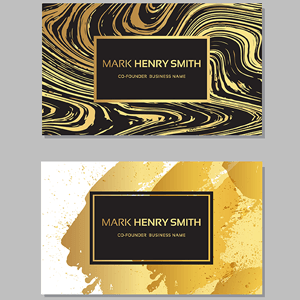 Business cards with special print finishing