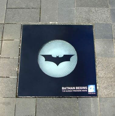 Batman sidewalk stickers