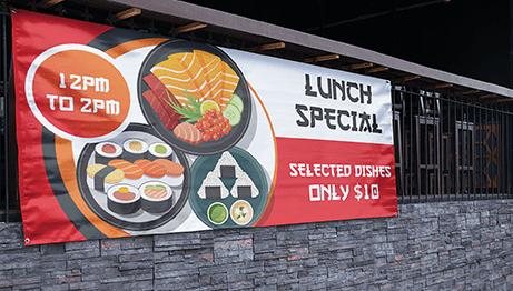 Vinyl Banner Lunch Special